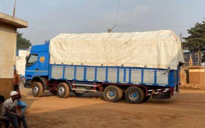 Transport et arrivée à Lomé
